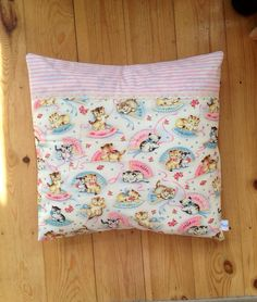 Michael Miller Smitten Kittens Cushion Cover by ThriftBoxUK