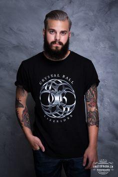 "Crystal Ball T-shirt ""LifeRider"" black #crystalball #crystalballrocks #cb #merch #merchandise #bandmerch #tshirt #tshirts #bandshirt #black #metal #hardrock #heavymetal #model #liferider #dawnbreaker #timewalker #secrets #cd #limited #edition  #tattoo #balls  #logo #photofrank #beard Band Merch, Band Shirts, Black Metal, Heavy Metal, Merchandise Shop, Cover Band, Crystal Ball, Hard Rock, Balls"
