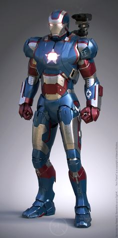 Iron Man 3 new Iron Patriot art