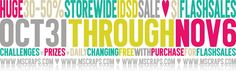 """Storewide iDSD Sale in the CU and PU shops! Until November 6.  Flash $1 sales, daily FWP, challenges, prizes. Come join us and have some fun (and did I mention """"prizes""""??)"""