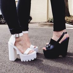 Trends & Inspiration | Chunky White Platforms | Everyday Escapism  Chunky Platforms are my latest favourite fashion trend <3