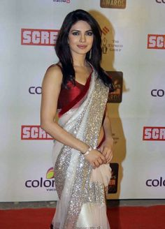 @ $99.00 Priyanka Chopra Screen Award Saree with free shipping offer only at http://www.buyindianwear.com
