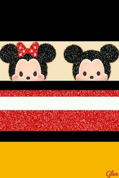 Colorful Minnie Mouse Rainbow Wallpaper Background