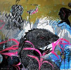"Saatchi Art Artist Rusudan Khizanishvili; Painting, ""Morning in the Jungle"" #art"