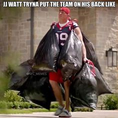 Sorry JJ but as long as you stick with Houston you will forever be taking out the trash LOL #SportsHumor #BrianBeck
