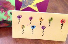 Kids Thank You Cards - Homemade Cards that Kids Can Easily Make Thank You Cards From Kids, Teacher Thank You Cards, Baby Thank You Cards, Handmade Thank You Cards, Kids Cards, Simple Birthday Cards, Homemade Birthday Cards, Birthday Gifts For Grandma, Kids Birthday Cards