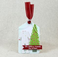 Christmas Pajamas Tag by Lizzie Jones for Papertrey Ink (May 2016)