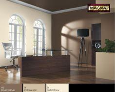 Gabinet w kolorach brązowych