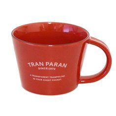 TRANPARANマグカップ ボックス付き 陶器 日本製(レッド)