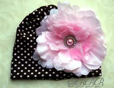 Baby Girl  Brown with pink  polka dots by TheBabyBellaBoutique