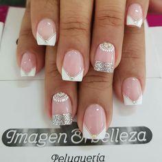Beauty Spa, Hair Beauty, Nail Tattoo, Stamping Plates, French Nails, Manicure And Pedicure, Nail Tips, Cute Nails, Acrylic Nails