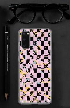Checkerboard pink trend Samsung Case
