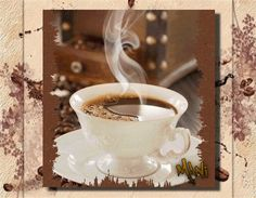 GIF by Mani Ivanov. Find more awesome images on PicsArt. Coffee Gif, Happy Coffee, Coffee Break, Happy Friendship Day, Good Morning, Free Apps, Esl, Tableware, Animation