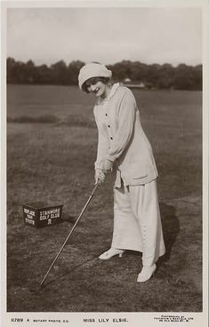Edwardian Beauty and Actress Lily Elsie playing golf - photo found at http://www.tumblr.com/tagged/lily-elsie?before=1337551149