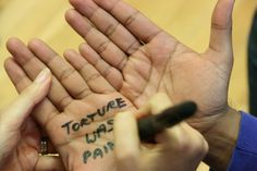 """Torture was painful...""  A message of solidarity to survivors of torture from a Freedom from Torture supporter  http://www.freedomfromtorture.org/feature/survivors_speak_out/5993"