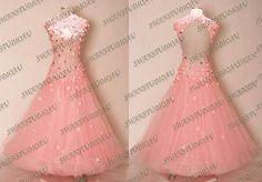 NEW SUGAR PINK BALLROOM DANCE COMPETITION DRESS