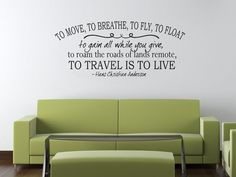 TO MOVE TO BREATHE TO FLY TO FLOAT. HANS CHRISTIAN ANDERSON WALL STICKER DECAL