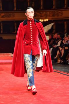 men outfits - And Now, Something for the Boys Dolce & Gabbana's Alta Sartoria Ode to Verdi Dolly Fashion, Indie Fashion, High Fashion, Fashion Show, Fashion Outfits, Fashion Design, Couture Fashion, Runway Fashion, Mens Fashion
