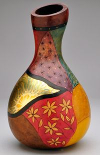 Gourd art by Christy Barajas, an avid user of Fine Tip Applicators!