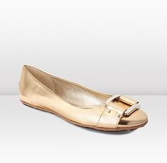 Jimmy Choo | Morse | Pure Gold Mirror Leather Ballet Flats | JIMMYCHOO.COM