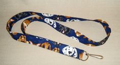 Dogs  handmade fabric lanyard by doodlebugquilts on Etsy, $8.00