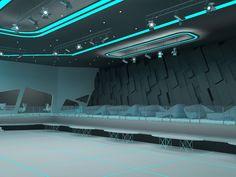 07 Fantasy Tron Night Club http://www.coroflot.com/VoronovNikita/tron-style-club-interior-with-Aleksandra-Gromova