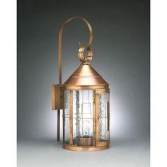 Northeast Lantern Heal 2 Light Outdoor Wall Lantern Finish: Verdi Gris, Shade Type: Seedy Marine