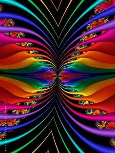 Amazing colors - bright fractal colors