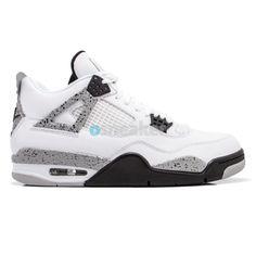 size 40 77393 8e8cd Air Jordan IV (4) White Cement 89  Retro