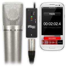 iRig PRE with Android and Apple devices.  Record to handhelds, pads or laptops with regular studio mics using the i-Rig.