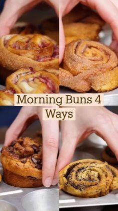 Fun Baking Recipes, Brunch Recipes, Dessert Recipes, Cooking Recipes, Delicious Desserts, Yummy Food, Tasty, Breakfast Dishes, Love Food