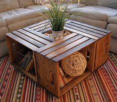 DIY Wooden Crates Furniture: 40+ Best Examples http://freshoom.com/2540-40-fantastic-diy-wooden-crates-furniture-design-ideas/