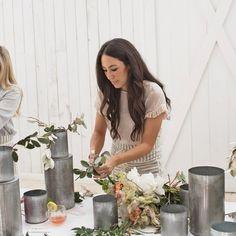 chip and joanna gaines farmhouse Joanna Gaines's Flower Arranging Tips Joa