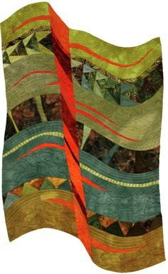 Fault line by Jill Exell   Contemporary Quilt (UK)