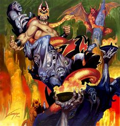 rafael gallur, poster art, lucha monstruo, fine art, lucha libr, de lucha, caricatura de