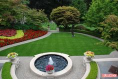 A beautiful green lawn made from artificial turf #BURNCO  #landscaping #artificialgrass  https://www.burncolandscape.com/