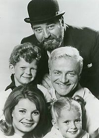Family affair 1967.  Cast of show: Kathy Garver (Cissy), Anissa Jones (Buffy), Johnny Whitaker (Jody), Brian Keith (Bill Davis), and Sebastian Cabot (Mr. French).