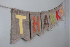 burlap thanksgiving banner: tutorial