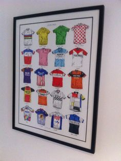 Our new poster nicely framed cycle shirts