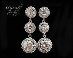Hey, I found this really awesome Etsy listing at https://www.etsy.com/listing/181774149/bridal-earrings-round-cubic-zirconia