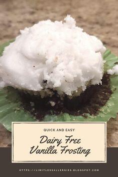 New ideas cake frosting recipe healthy dairy free Dairy Free Vanilla Frosting, Vanilla Frosting Recipes, Cake Frosting Recipe, Dairy Free Alternatives, Dairy Free Recipes, Healthy Recipes, Delicious Recipes, Fun Desserts, Dessert Recipes