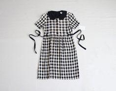 gingham dress / 90s dress / peter pan collar dress by foundpretty