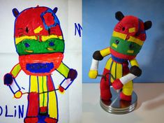 turn kids childrens drawings into plush toys dolls (18)