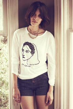 """""""i'm serious' shirt (Alexa Chung) #brunette"""