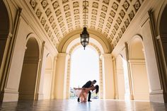 Stacey Danny : Pasadena City Hall Engagement Photography