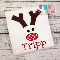 Reindeer Christmas Baby Outfit  Baby Boy Christmas by SewSoDarling
