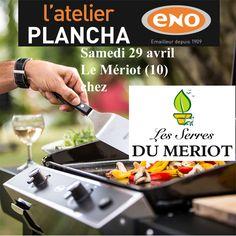 Atelier Plancha ENO samedi 29 avril aux Serres du Mériot au Mériot - Nogent sur Seine (10) - Cours de cuisine à la plancha avec un chef pour apprendre à cuisiner sur la Plancha ENO. Conseils et astuces de cuisson et de nettoyage. Cours de cuisine sur réservation auprès du magasin au 03 25 39 83 16