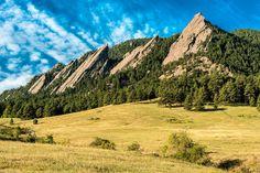 Flatirons near Boulder, Colorado http://en.wikipedia.org/wiki/Flatirons