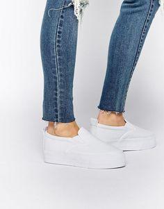 Shop 10 Cool Pairs of Platform Sneakers for Spring - ASOS Deomnstrate Flatform Sneakers, $45; at ASOS