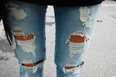 As Skinny Jeans Ripped Hollister Fashion Tan Cute Girl Reblogged
